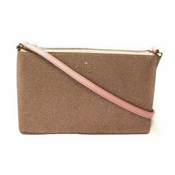 Kate Spade Handbags - Kate Spade Joeley Glitter Crossbody Bag Rose Gold